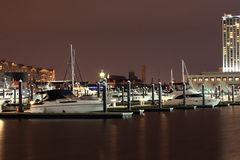 Docked Boats in Baltimore Inner Harbor royalty free stock image