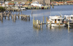 Docked boats in Biloxi, Mississippi Stock Photos