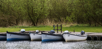 Docked Boats. Image of Boats Docked Location: Loch Leven, Scotland royalty free stock photography
