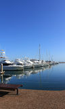 Docked Boats and yachts Stock Photography