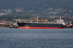 Docked cargo ship Royalty Free Stock Image