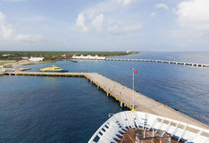 Docked in Cozumel Royalty Free Stock Images