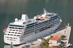 Docked Cruise Liner Royalty Free Stock Images