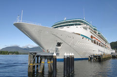 Docked Cruise Ship. A Cruise Ship at the dock Royalty Free Stock Image