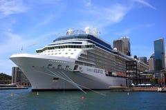 Docked cruise ship in Sydney Stock Photos