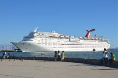 Docked Cruise Ship Royalty Free Stock Photo
