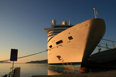 Docked cruise ship in Greece Stock Photography
