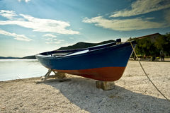 Docked fishing boat in Seget donji Royalty Free Stock Photos