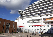 Docked In Halifax. The cruise liner docked in Halifax city Nova Scotia, Canada stock photo