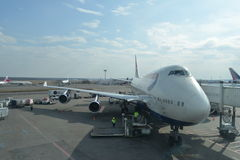 Docked jet flight Stock Images