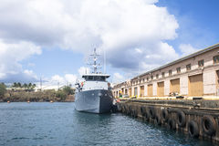 Docked Navy Vessel Royalty Free Stock Images