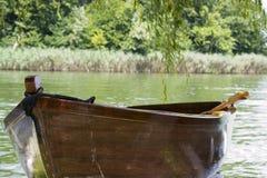 Docked rowboat Stock Photos