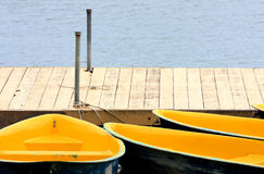 Docked Rowboats Royalty Free Stock Image