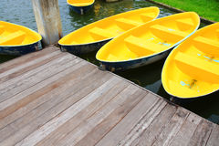 Docked Rowboats Royalty Free Stock Photo