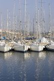 Docked sailboats Royalty Free Stock Photos