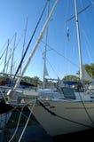 Docked Sailboats. Sailboats docked in a marina at Toronto Island Royalty Free Stock Image