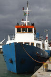 Docked Ship. Ship Docked at Robben Island off the South African cost by Cape Town royalty free stock photo