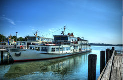 Docked ship Royalty Free Stock Image