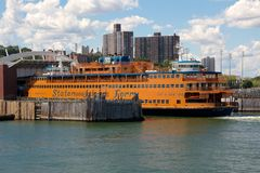 Docked Staten Island Ferry Royalty Free Stock Photo