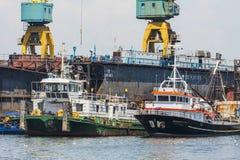 Docked tugboats Royalty Free Stock Photos