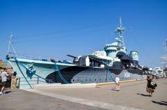 Docked Warship Stock Image