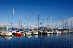 Docked yachts 03. Docked yachts at Shimizu Port japan royalty free stock photo