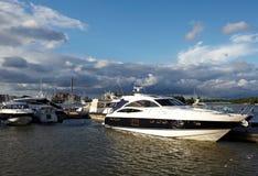 Docked yachts Stock Image