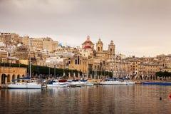 Docked yachts (Vittoriosa, Malta) Stock Images