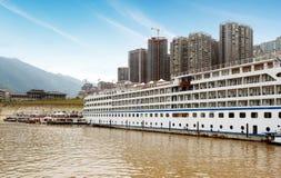 Docked in the Yangtze River cruise Royalty Free Stock Photo