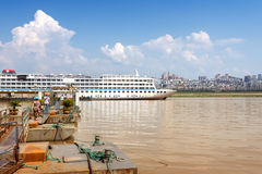Docked in the Yangtze River cruise Stock Images