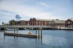 Dockers Американского флота в Портсмуте NH Стоковое фото RF