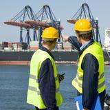 dockers обсуждения Стоковые Изображения RF