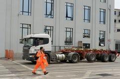 Dockers от порта Вальпараисо Стоковое Фото