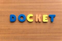 Docket Stock Photography