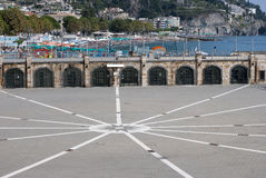 Dockin at the harbor. Dock at the port of Maiori city, in Amalfi coast Stock Photography