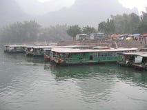 Docking boats China Stock Images