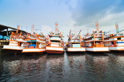 Docking Boats at Phuket, Thailand Stock Photo