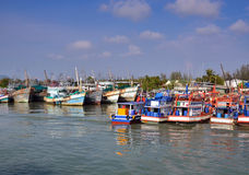 Docking Boats at Phuket, Thailand Royalty Free Stock Photo