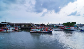 Docking Fishing Boats at Phuket, Thailand Royalty Free Stock Photo