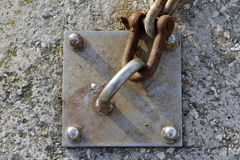 Docking - metal ring. For boats Royalty Free Stock Photo