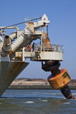 Docking Oranje. A Trailing suction hopper Dredger at Work Stock Photo