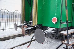 Docking part of railway carriage Royalty Free Stock Image