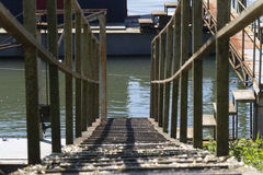 Docking on the pier Royalty Free Stock Photography