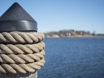Docking Post Royalty Free Stock Photography