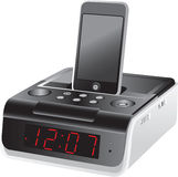 Docking station alarm clock. An alarm clock with a docking station Royalty Free Stock Image