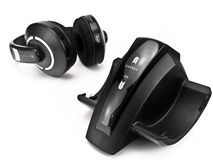 Docking station and cordless headphones Stock Image