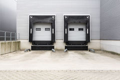 Docking station. For trucks at a distribution centre Royalty Free Stock Photos