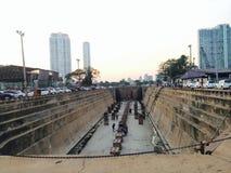 Dockland in Bangkok Royalty-vrije Stock Foto