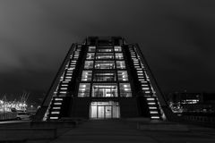 Dockland in Black and White Royalty Free Stock Photos