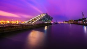 Dockland Hamburg by Night Stock Images
